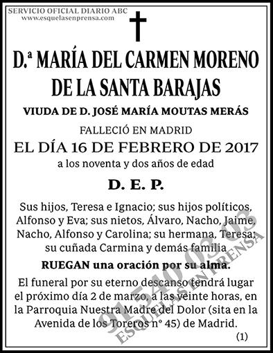 María del Carmen Moreno de la Santa Barajas
